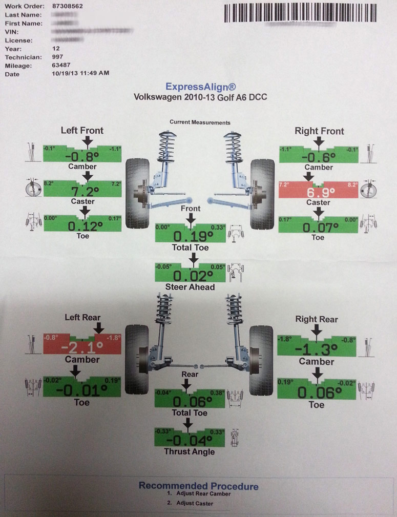 Front Caster And Other Alignment Concerns Tdiclub Forums